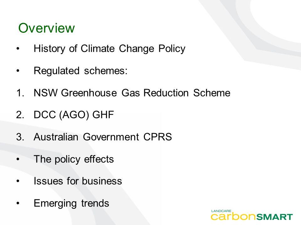 Conference of Parties Earth Summit Rio 1992 established UNFCCC COP 1 – the Berlin Mandate COP 3 – Kyoto Protocol COP 6 – Bonn – sinks, flexibility, finance COP 7 – Marrakech – the 'rules' COP 13 – Bali and Kevin 747 COP 15 – Copenhagen – post 2012
