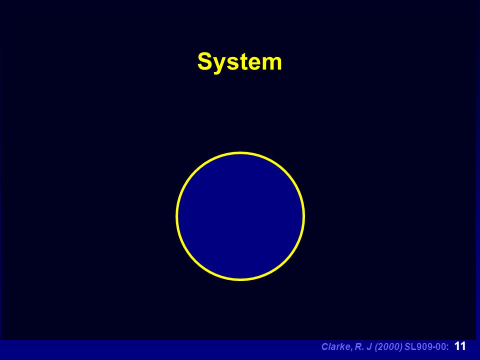 Clarke, R. J (2000) SL909-00: 11 System