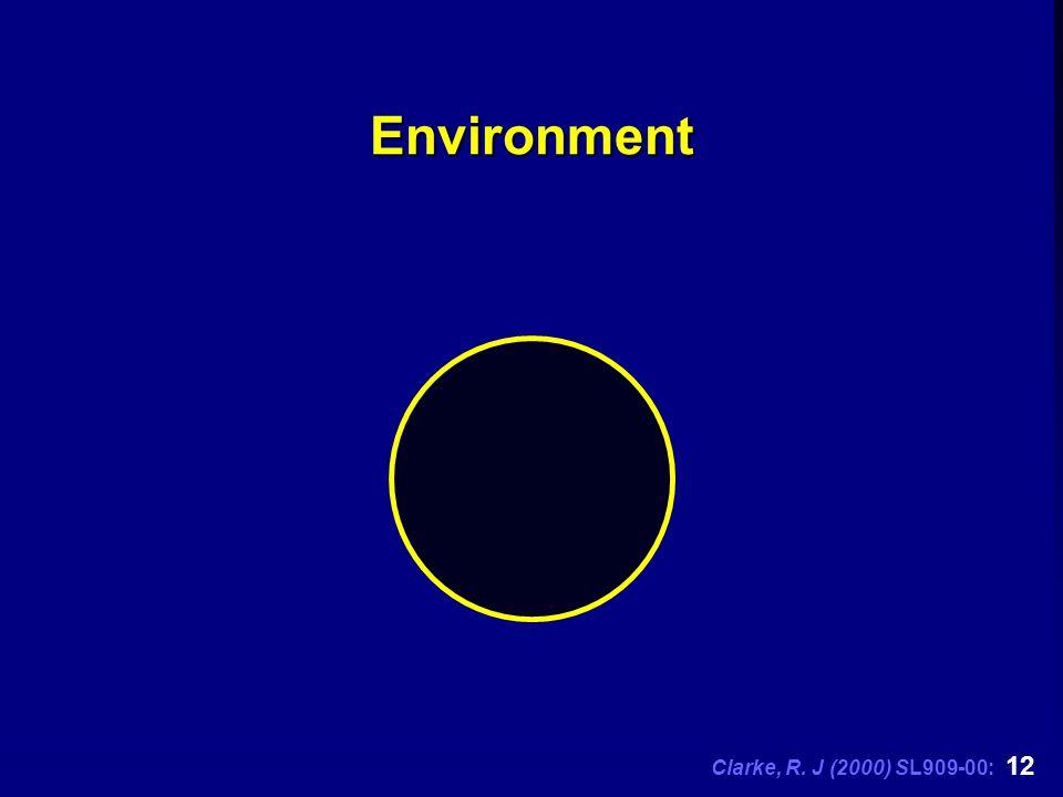 Clarke, R. J (2000) SL909-00: 12 Environment