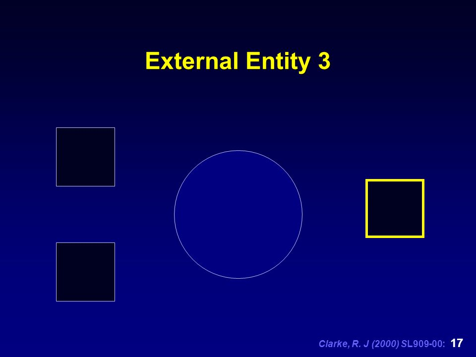 Clarke, R. J (2000) SL909-00: 17 External Entity 3