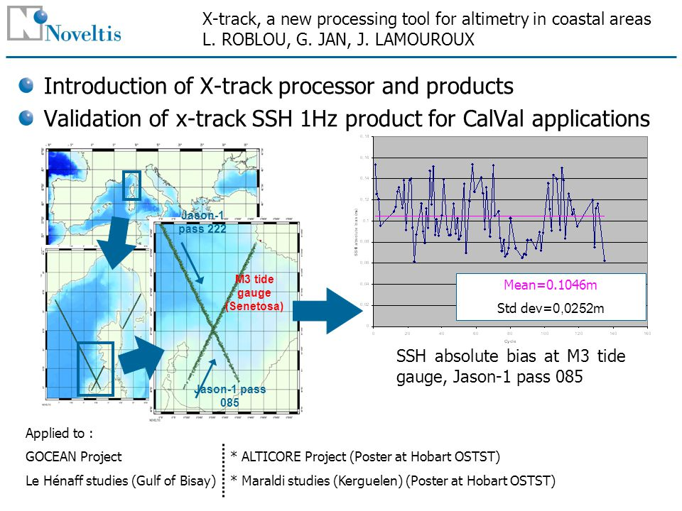 X-track, a new processing tool for altimetry in coastal areas L.