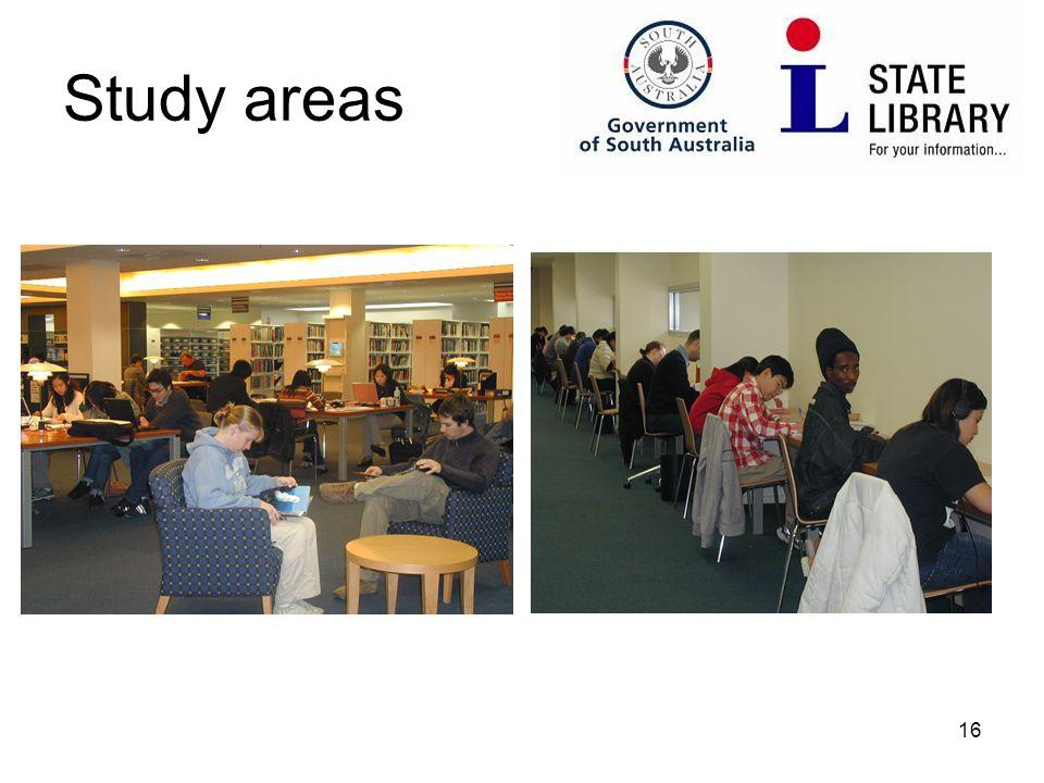 16 Study areas