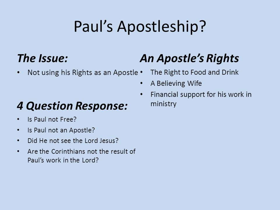 Paul's Apostleship.