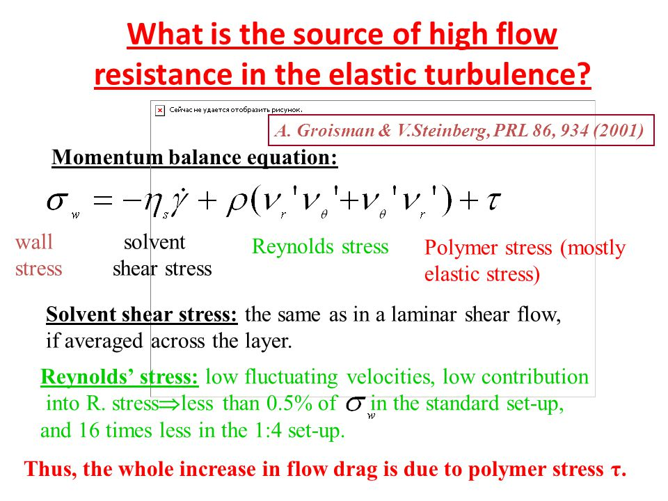 What is the source of high flow resistance in the elastic turbulence.