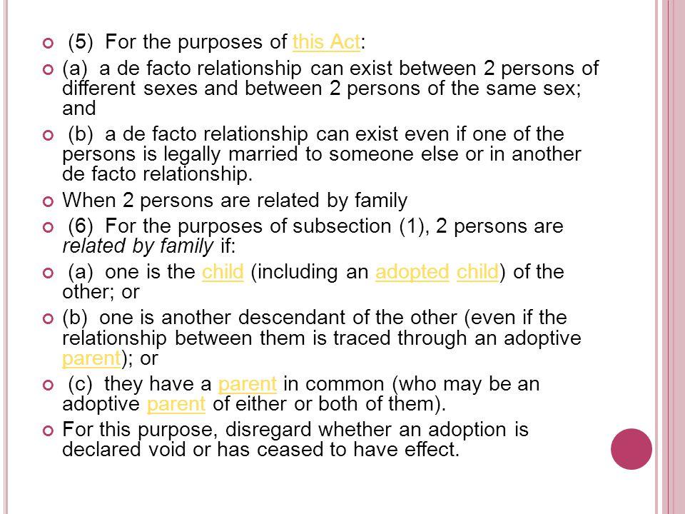 Declarations: s 90RD Family Law Act 1975 (Cth) Roy v Sturgeon [1986] 11 Fam LR 271 Delany v Burgess [2007] NSWCA 360