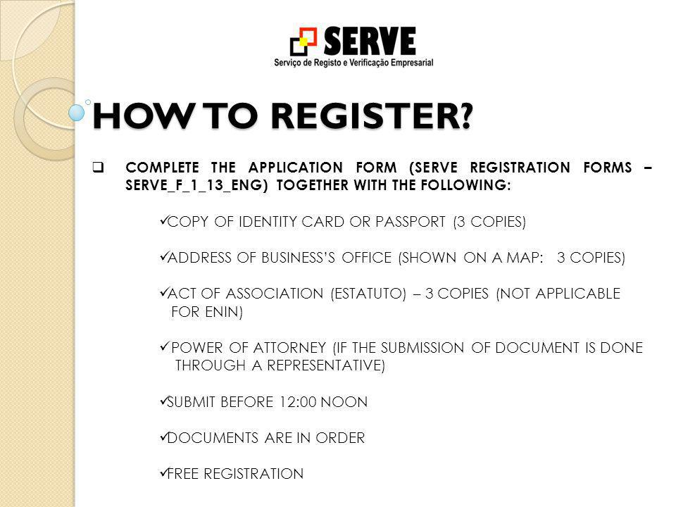 HOW TO REGISTER.