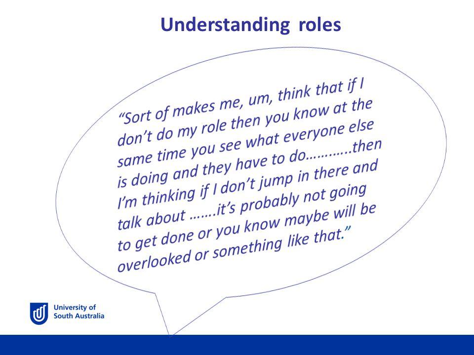 Understanding roles
