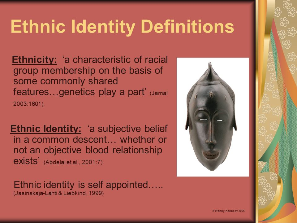 Within Group Differences The degree to which individuals consider themselves to have an ethnic identity can vary dramatically within the same cultural group (Chung and Fischer, 2001).
