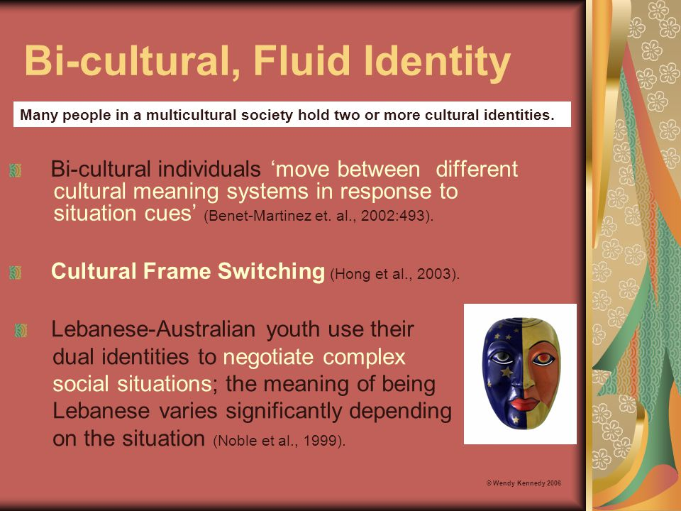 Cognitive Buffer Summary An achieved level of ethnic identity in relation to SWB is described in the literature as: © Wendy Kennedy 2006 Ethnic group identification clarifies one's own sense of identity, creates a sense of pride and self-worth.