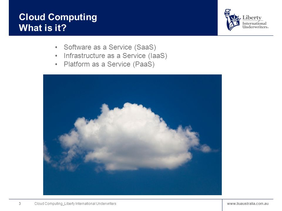 www.liuaustralia.com.au Cloud Computing What is it.