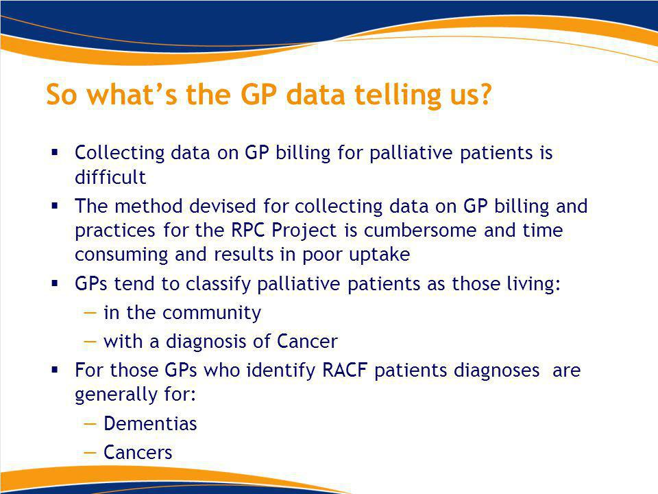 So what's the GP data telling us.