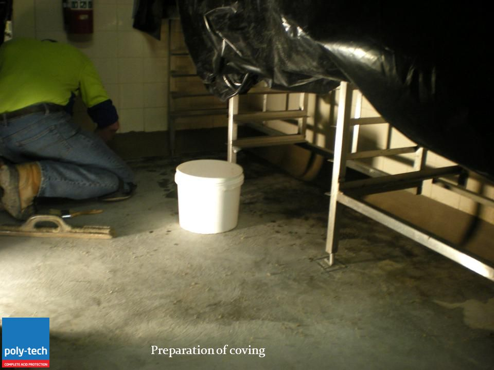 Preparation of coving
