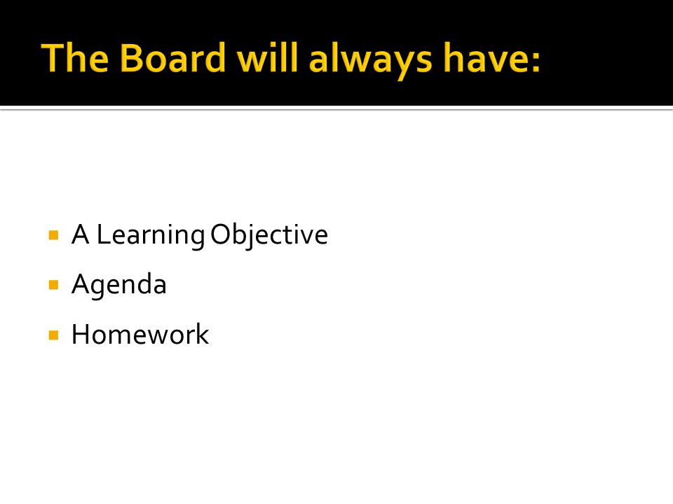  A Learning Objective  Agenda  Homework