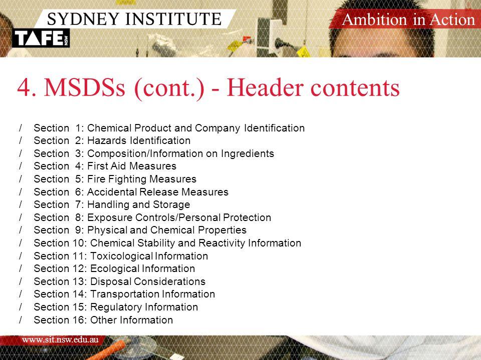 Ambition in Action www.sit.nsw.edu.au 5.