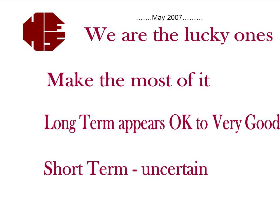 Investors' Seminar October 2008  Structure  Asset Mix  Specialist Stock-Pickers Summary to consider: