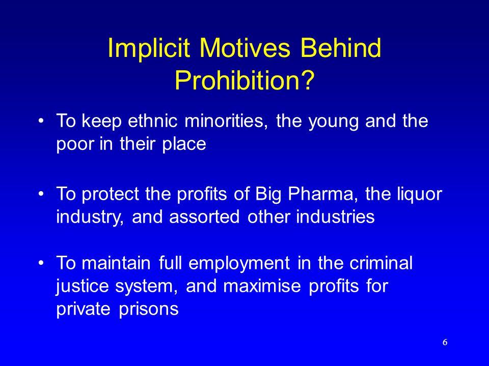 6 Implicit Motives Behind Prohibition.