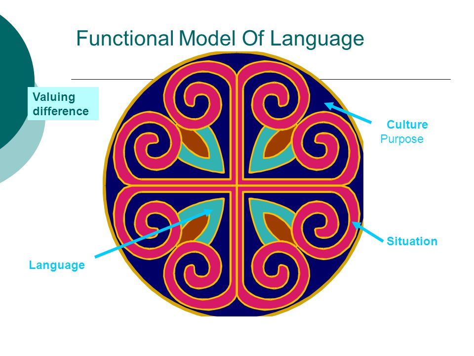Functional Model Of Language Culture Purpose Situation Language Valuing difference