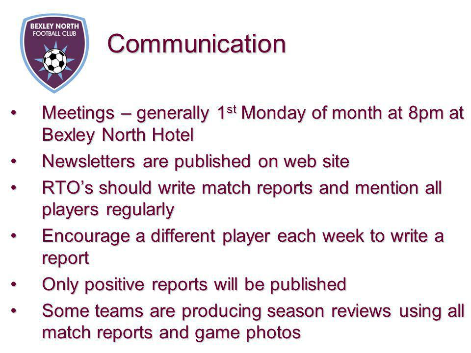 Meetings – generally 1 st Monday of month at 8pm at Bexley North HotelMeetings – generally 1 st Monday of month at 8pm at Bexley North Hotel Newslette