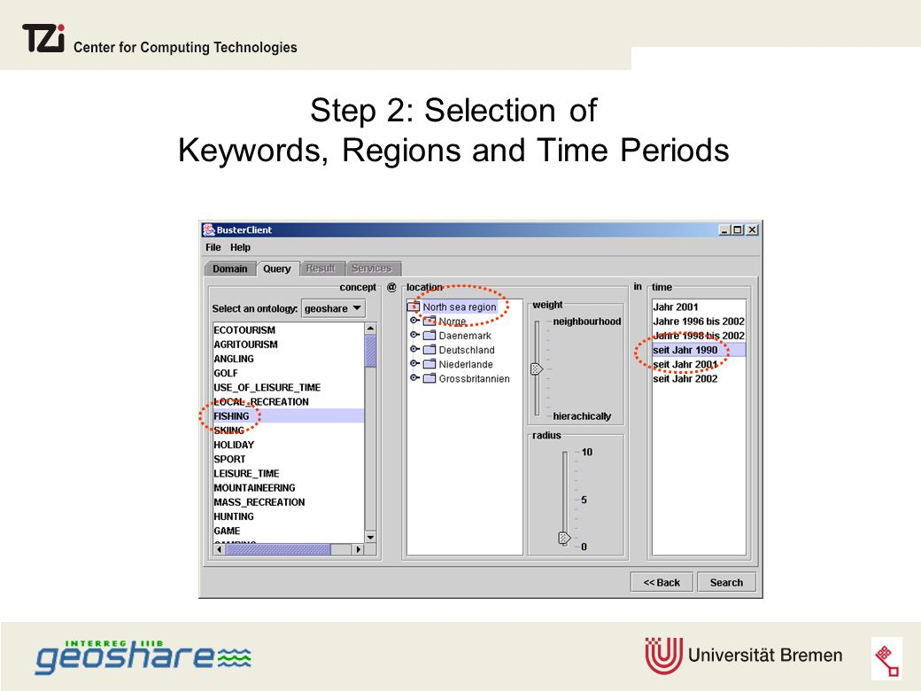 Step 2: Selection of Keywords, Regions and Time Periods