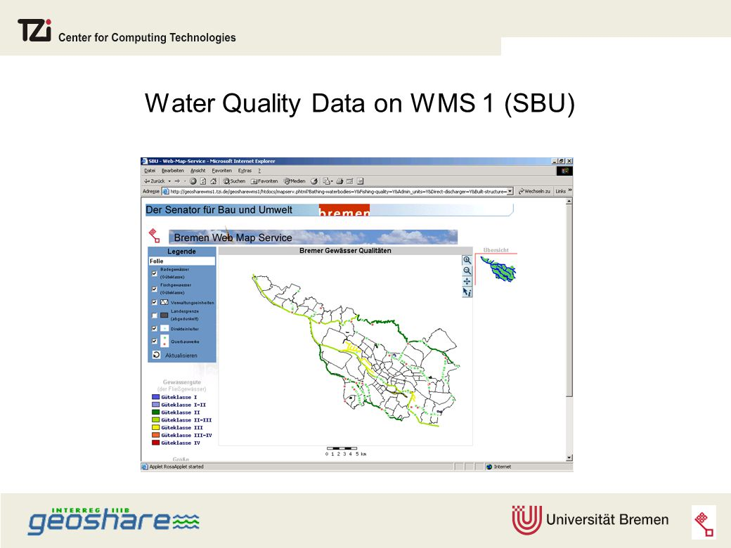 Water Quality Data on WMS 1 (SBU)