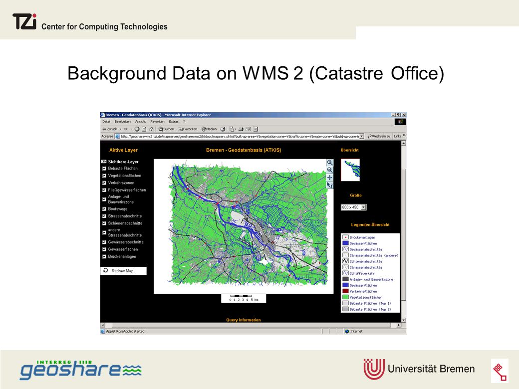 Background Data on WMS 2 (Catastre Office)