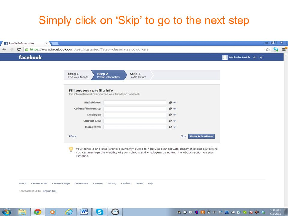 Create Facebook Personal Profile How to post