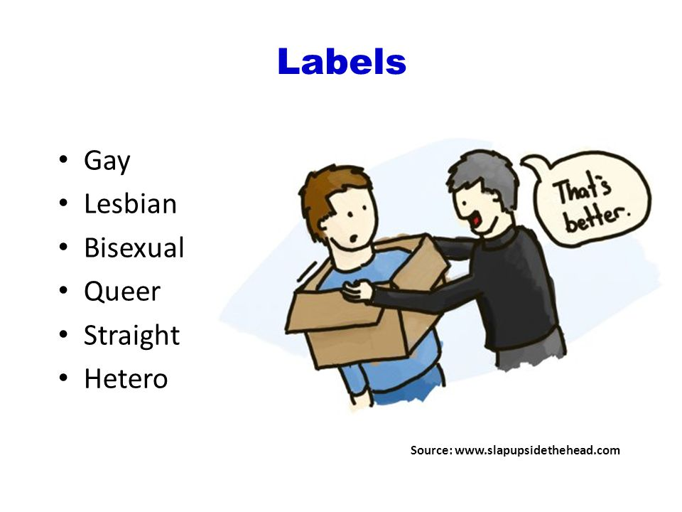 Gay Lesbian Bisexual Queer Straight Hetero Source:   Labels