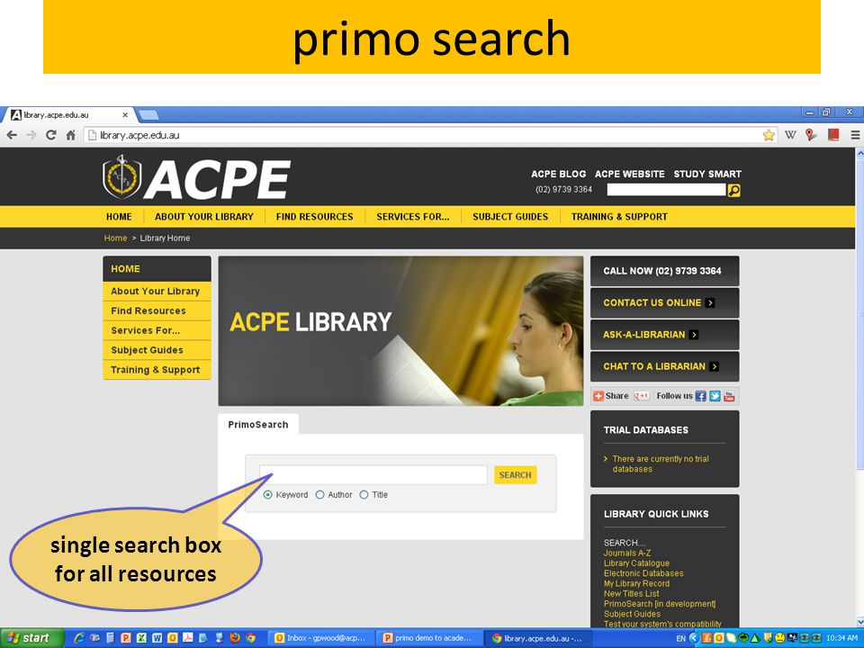 primo search Basic search Advanced search My Library Record Saved searches Results Multiple versions of the same work The Australian College of Physical Education