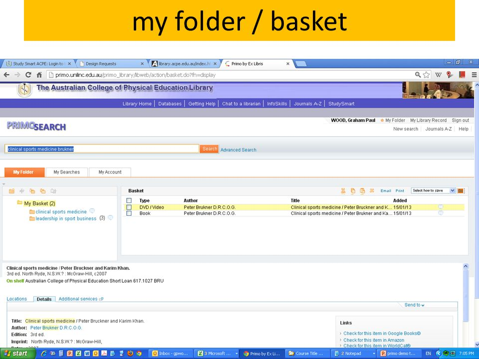 my folder / basket