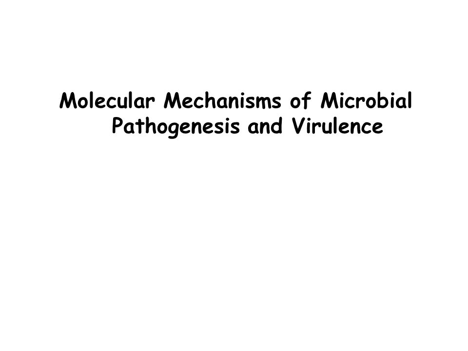 Molecular Mechanisms of Microbial Pathogenesis and Virulence