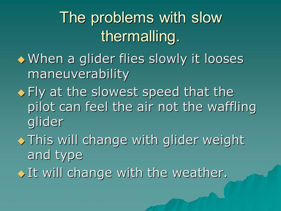 The problems with slow thermalling.
