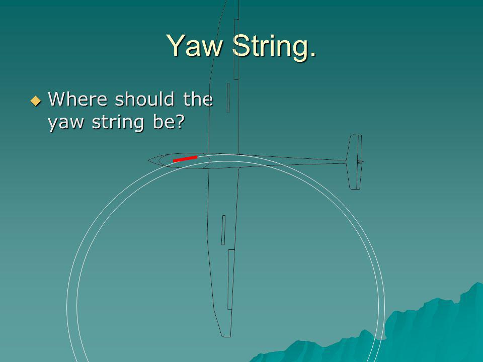 Yaw String.  Where should the yaw string be