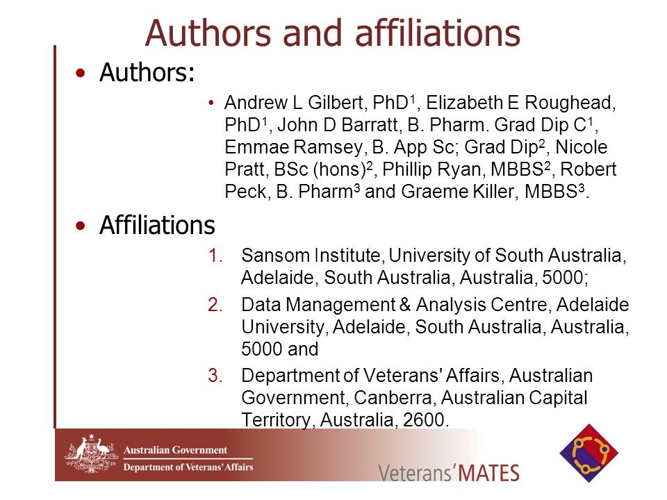 Authors and affiliations Authors: Andrew L Gilbert, PhD 1, Elizabeth E Roughead, PhD 1, John D Barratt, B.