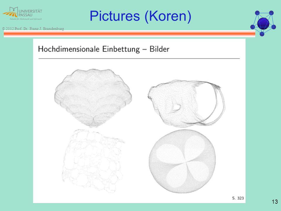 13 © 2012 Prof. Dr. Franz J. Brandenburg Pictures (Koren)