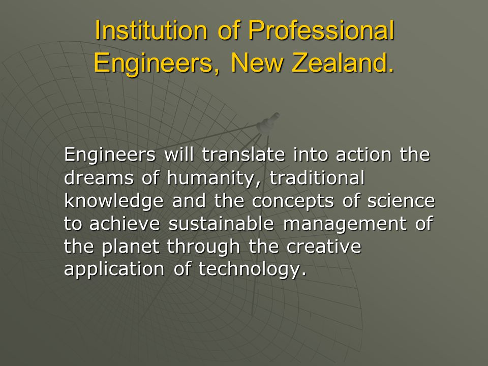 Institution of Professional Engineers, New Zealand.