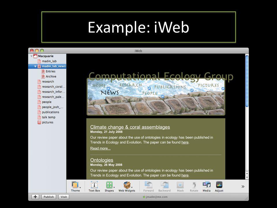 Example: iWeb