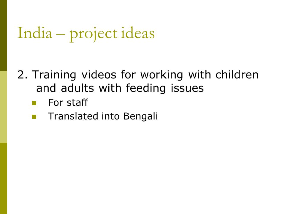 India – project ideas 2.