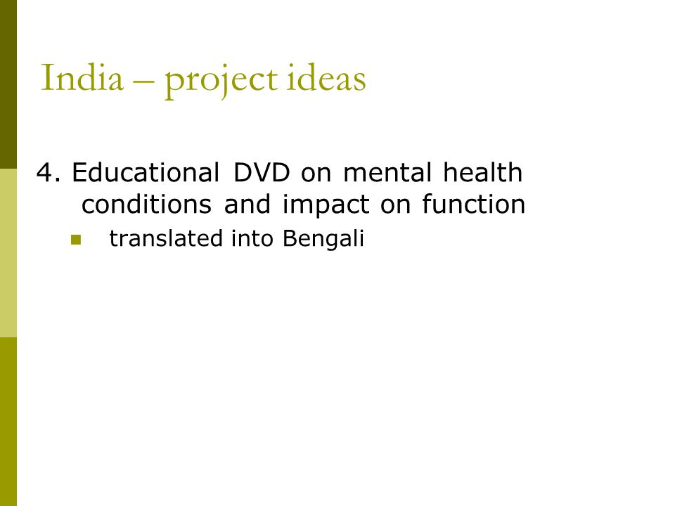 India – project ideas 4.