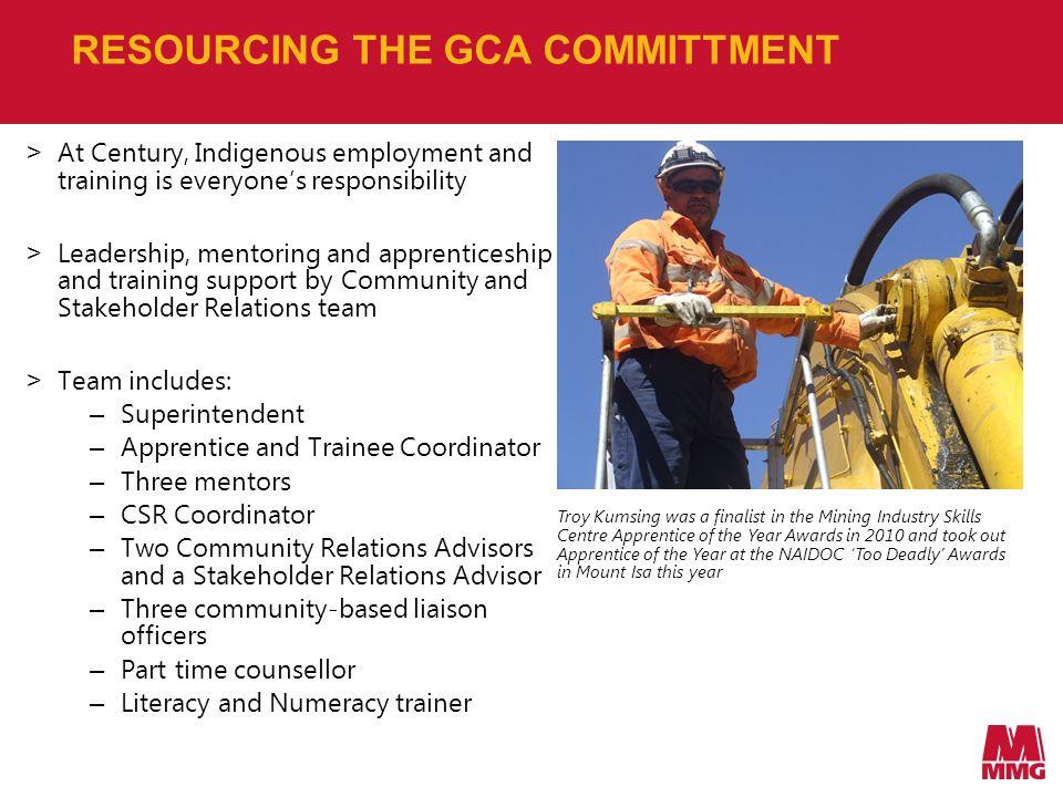 KEY GCA PROGRAMS EMPLOYMENT > Positive discrimination for GCA people.