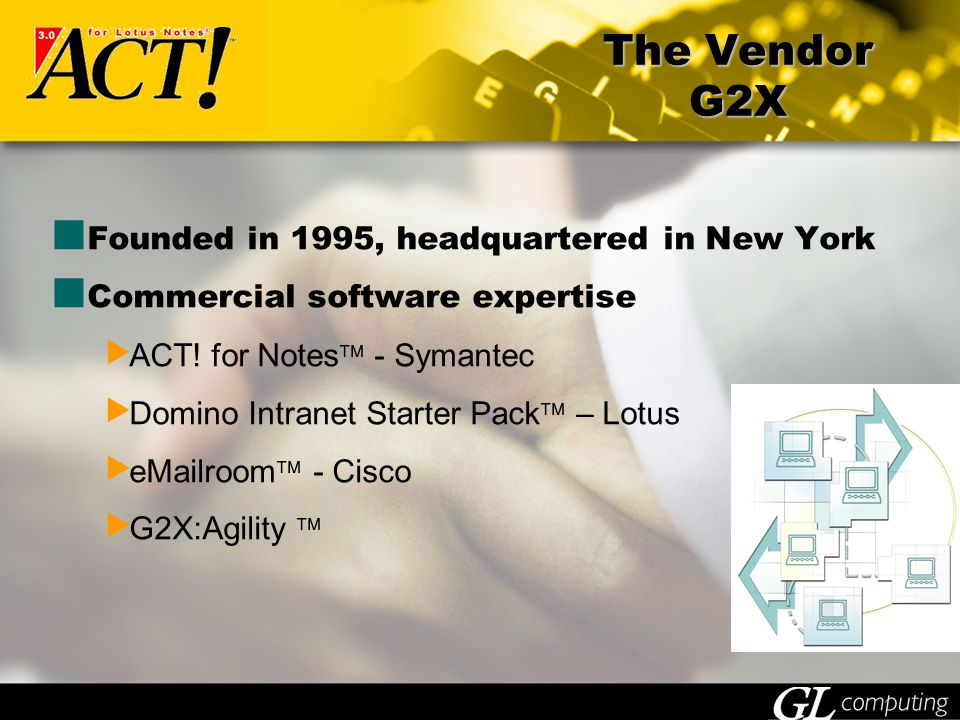 Founded in 1995, headquartered in New York Commercial software expertise  ACT.