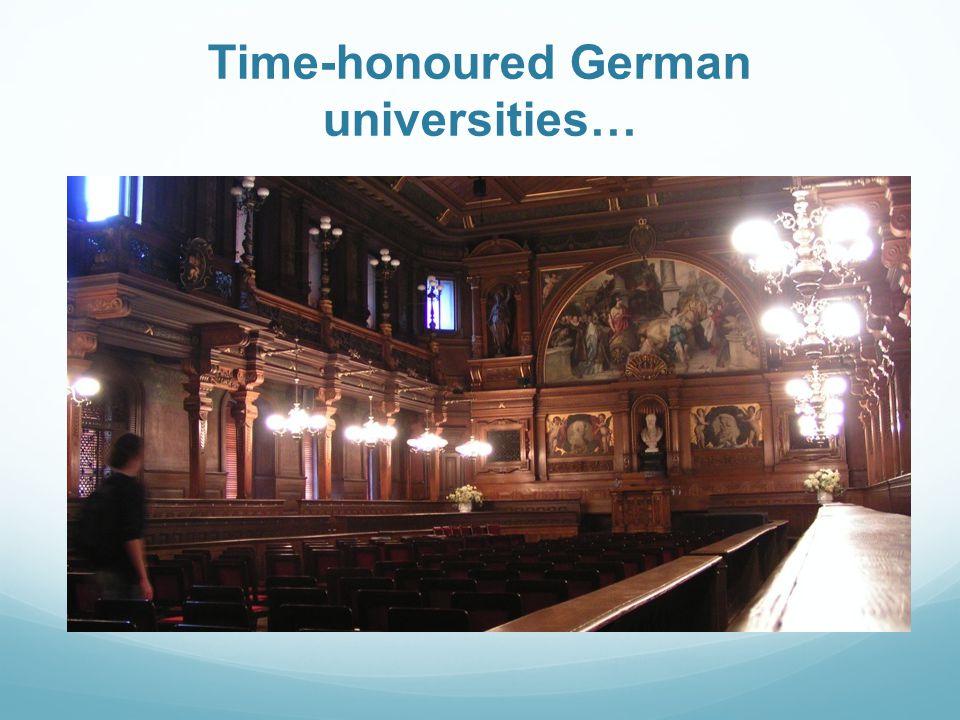Time-honoured German universities…