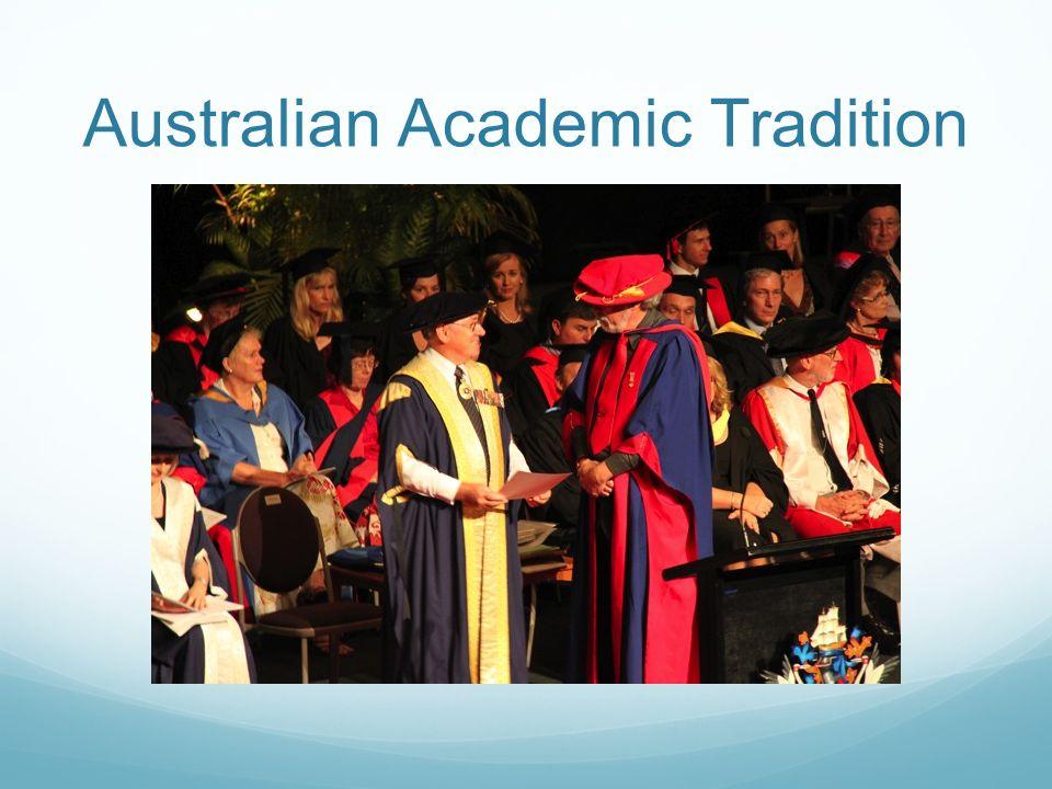 Australian Academic Tradition