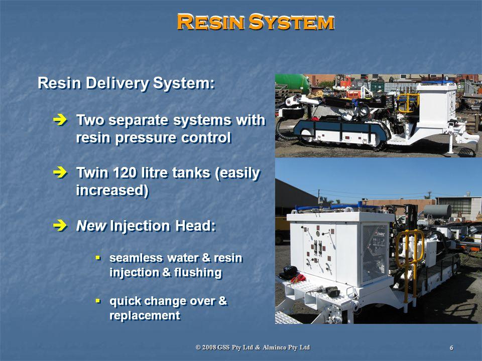 © 2008 GSS Pty Ltd & Alminco Pty Ltd 7 Why Pumpable Resin SDRB.