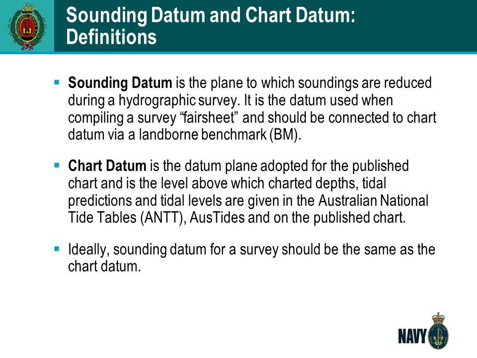 Sounding Datum and Chart Datum: Definitions