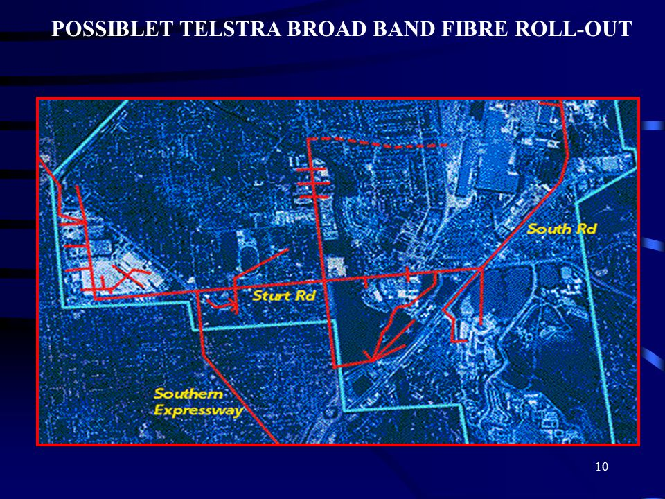 10 POSSIBLET TELSTRA BROAD BAND FIBRE ROLL-OUT