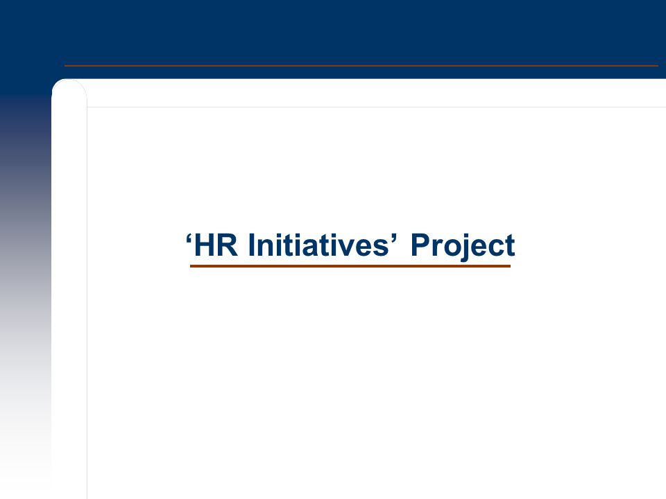 'HR Initiatives' Project