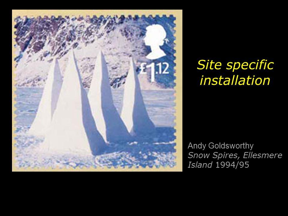 Andy Goldsworthy Snow Spires, Ellesmere Island 1994/95