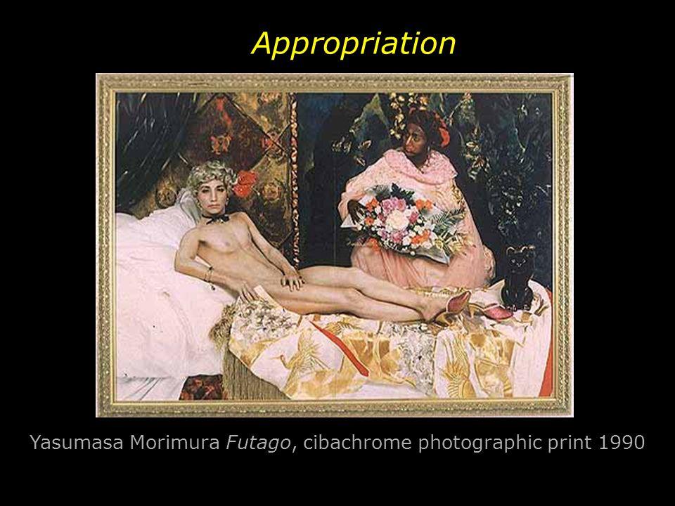 Appropriation Yasumasa Morimura Futago, cibachrome photographic print 1990 print, 1990