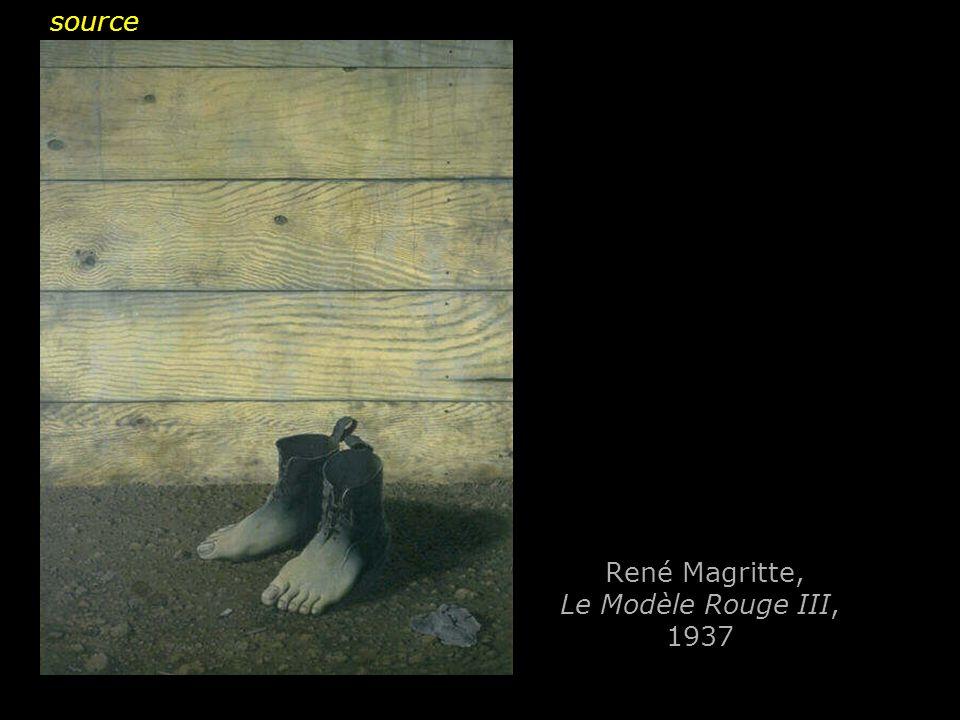 René Magritte, Le Modèle Rouge III, 1937 source