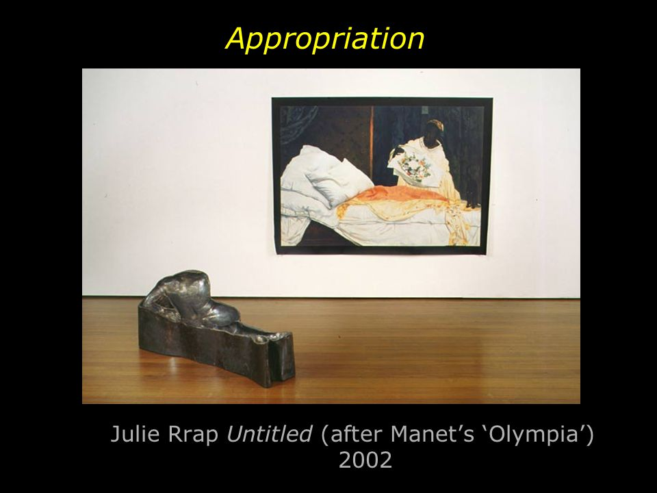 Julie Rrap Untitled (after Manet's 'Olympia') 2002 Appropriation